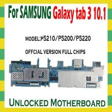 삼성 갤럭시 탭 3 10.1 P5210 P5200 와이파이 버전 마더 보드 로직 마더 보드 회로 보드 MB 플레이트에 대한 원래 잠금 해제