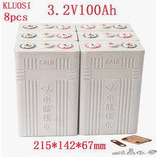 8Pcs 3,2 v 100ah Lifepo4 batterie Lithium-eisen phosphat zelle batterien NEUE CALB ca100 kunststoff 12v200AH 24V100AH für solar RV pack
