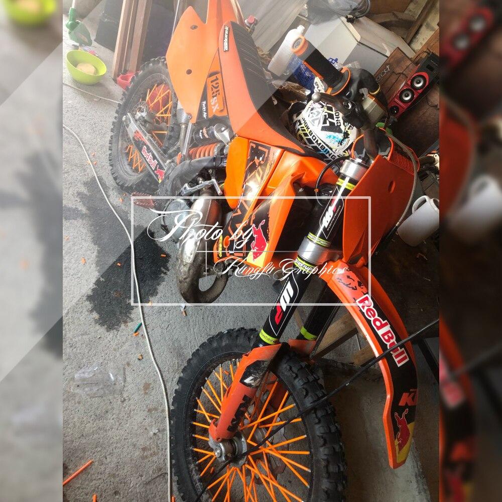 Orange Kungfu Graphics Upper Mid Fork Tube Decal Kit Pack of 4