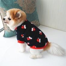 Pet-Clothing Winter for Dog-Fleece French Bulldog Print Christmas Dogs Cute Autumn Ubranka