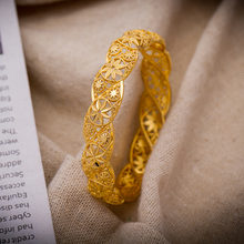 Браслеты тумака золота Цвет арабских цветок браслет для От 4