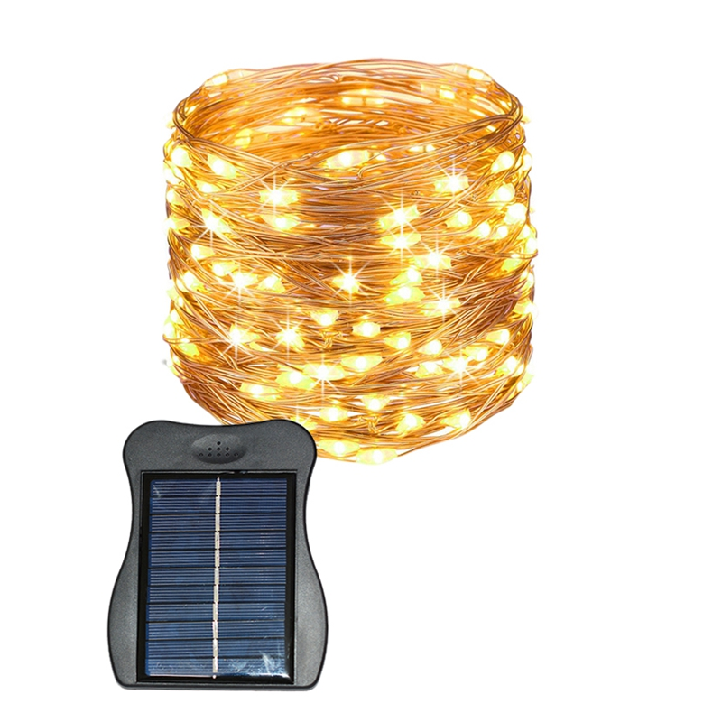 ABSS-Solar Fairy Lights 100 Led Wire Lights Outdoor Waterproof Solar Decoration Lights For Gardens Home Dancing Party Christmas