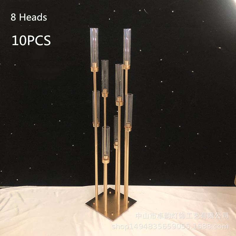 Gold 8 Heads 10 PCS