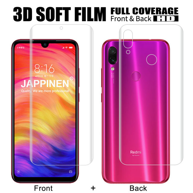 Film protecteur décran avant + arrière pour Xiaomi Mi 9T SE A2 8 Lite Pocophone F1 Redmi Note 9S 7 K20 Pro Film Hydrogel