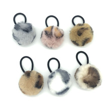 New Fur Ball Elastic Girl Womens Ponytail Holders Plush Hair Ring Rope Tie Accessories Rubber HairBand