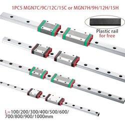 MGN7 MGN12 MGN15 MGN9 L 100 200 350 500 600 800 мм миниатюрная линейная направляющая 1 шт. MGN линейная направляющая MGN каретка CNC 3D принтер