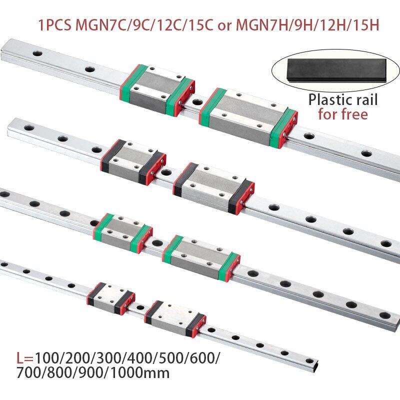 MGN7 MGN12 MGN15 MGN9 L 100 200 350 500 600 800 Mm Miniatuur Lineaire Spoor Glijbaan 1 Stuks Mgn Lineaire gids Mgn Vervoer Cnc 3D Printer