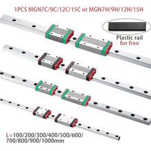 MGN7 MGN12 MGN15 MGN9 L 100 200 350 500 600 800mm miniaturowa szyna liniowa slajd 1 sztuk MGN liniowe prowadnice liniowe MGN przewóz CNC 3D drukarki