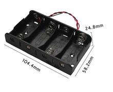 10pcs/lot MasterFire 4 Slots C Size Batteries Holder With Wire Leads x 1.5V Battery Storage Box Case Cover High Quality