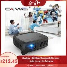 CAIWEI H6W جهاز عرض صغير للهواتف الذكية DLP 1080P المحمولة واي فاي بطارية متعاطي المخدرات ثلاثية الأبعاد سينما مرآة يلقي جهاز عرض الوسائط المتعددة اللاسلكية