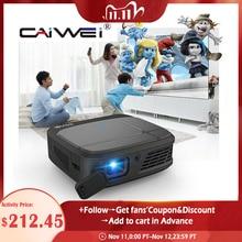 CAIWEI H6W Mini Smartphone Projector DLP 1080P Portable WIFI Battery Beamer 3D Cinema Mirror Cast Wireless Multimedia projector