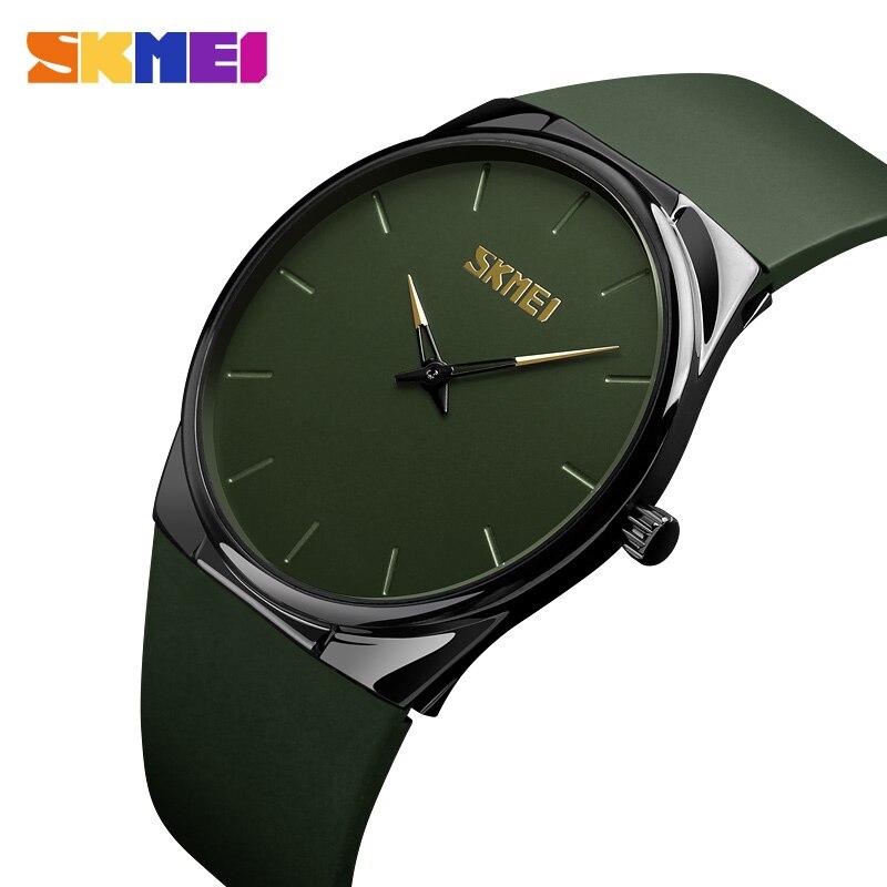 SKMEI Fashion Women Watches Quartz Watch Ultra Thin Wristwatches 3Bar Waterproof Simple Lady Men Watch Relogio Feminino 1601S