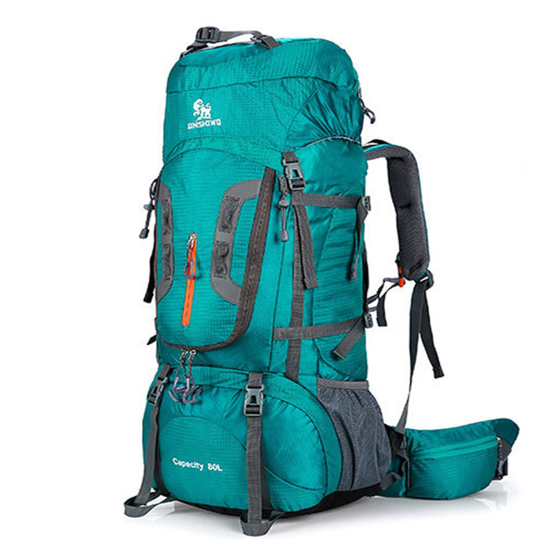 80L Outdoor mountaineering bag Camping Hiking Backpack Big Capacity Mountain Rucksack Large Sport Bag Travel Climbing superlight