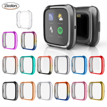 For Fitbit Versa 2 Screen Protector Case TPU Cover Case For Fitbit Versa 2 Watch Protective Frame Shell Electroplated Watchband mijobs pc diamonds case cover for fitbit versa band screen protector watch shell smart watch accessories for fitbit versa lite