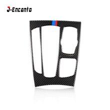 Carbon Fiber Car Gearshift Console Frame Sticker Gearshift Panel Decoration for BMW X5 F15 X6 F16 2014-2017 Car-styling цены