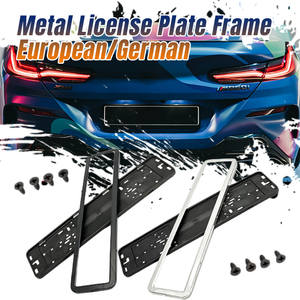 Car-License-Plate-Frame Stainless-Steel Auto European/german with Screws for Sliver/black