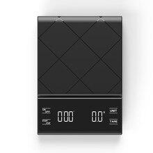 Balance électronique LCD Pour café, Espresso et verser le poids au goutte-à-goutte, Balance numérique Pour aliments de cuisine noire, 3kg 0.1g g oz ml