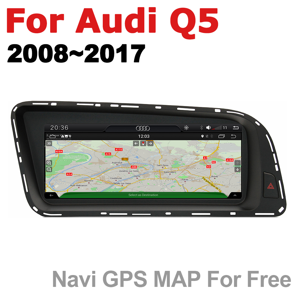 Android 7.0 up Car Multimedia player For Audi Q5 8R 2008~2017 MMI WiFi GPS Navi Map Stereo Bluetooth 1080p IPS Screen image