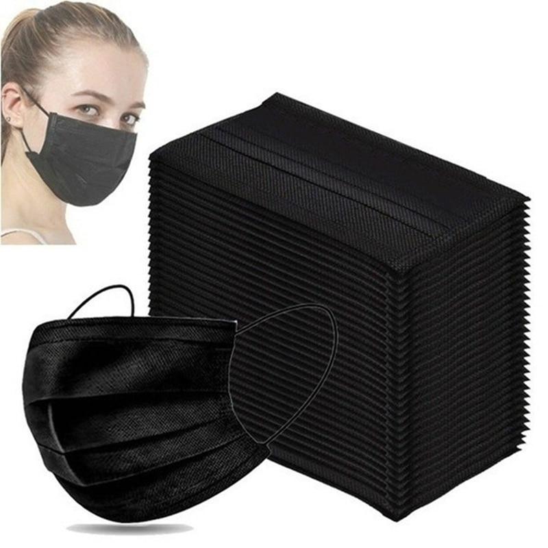 Mascarillas маски для лица из нетканого материала 3-слойный фильтр одноразовая маска для лица из дышащего материала защитные маски для Взрослых Ч...