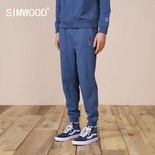 SIMWOOD 2021 ilkbahar yaz yeni konik Sweatpants erkekler rahat forması eşofman altları yüksek kaliteli Jogger koşu pantolon