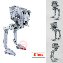 New Lepin 05066 Genuine Star War Series The Rogue One Imperial AT-ST Walker Set Building Blocks Bricks Educational Toys 75153 2017 hot new 1068pcs 05052 star series the at robot st building blocks bricks set toys 10174 educational gifts toys wars