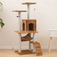 Pet Supplies Cat Toy Climbing Frame Cat Scratch Board Tree Nest Hammock 23S Cat Tunnel Tower Velvet Good Quality cage