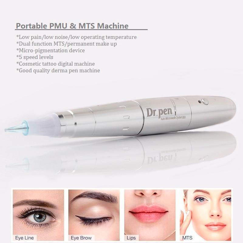 Artmex Tattoo Gun Permanent Cosmetic Makeup Machine Microblading Needles Derma Pen A3 For Body Art Eyebrow Eyeline Lip Liner-in Tattoo Guns from Beauty & Health    1