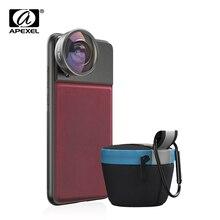 APEXEL HD 8 مللي متر 185 درجة سوبر عدسة عين السمكة 4K هاتف محمول احترافي عدسة الكاميرا ل iPhone7 8 xs maxhuawei شاومي الهاتف المحمول
