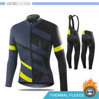 SPECIALIZEDING Winter Radfahren Kleidung Lange Hülse Jersey Setzt Thermische Fleece Racing Bike Kleidung Uniform Ropa Ciclismo Hombre