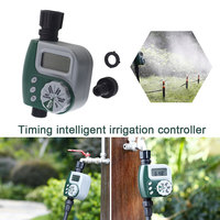 Gray Watering Timer Garden Water Timers Hose Waterproof Economic Timing Home Sprinkler 17*10*4.5CM Automatic|Garden Water Timers|   -