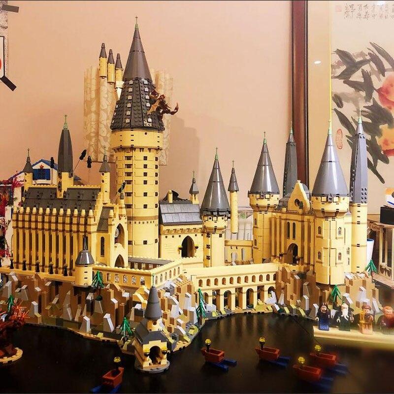 В наличии фильм H бородавок замок школьная Волшебная модель 6044 шт Строительные блоки кирпичные 71043 детский подарок совместим с 16060 игрушки - 3