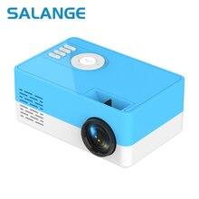 Salange J15 מיני נייד מקרן תמיכת 1080P וידאו תצוגת בית מדיה נגן כיס וידאו קולנוע מתנה לחברים ילדים