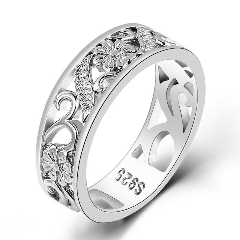 Bague Ringen למעלה מותג 925 כסף תכשיטי טבעות נשים שנה מעגל זוג טבעת גודל 6-10 סיטונאי בסדר תכשיטי מתנות