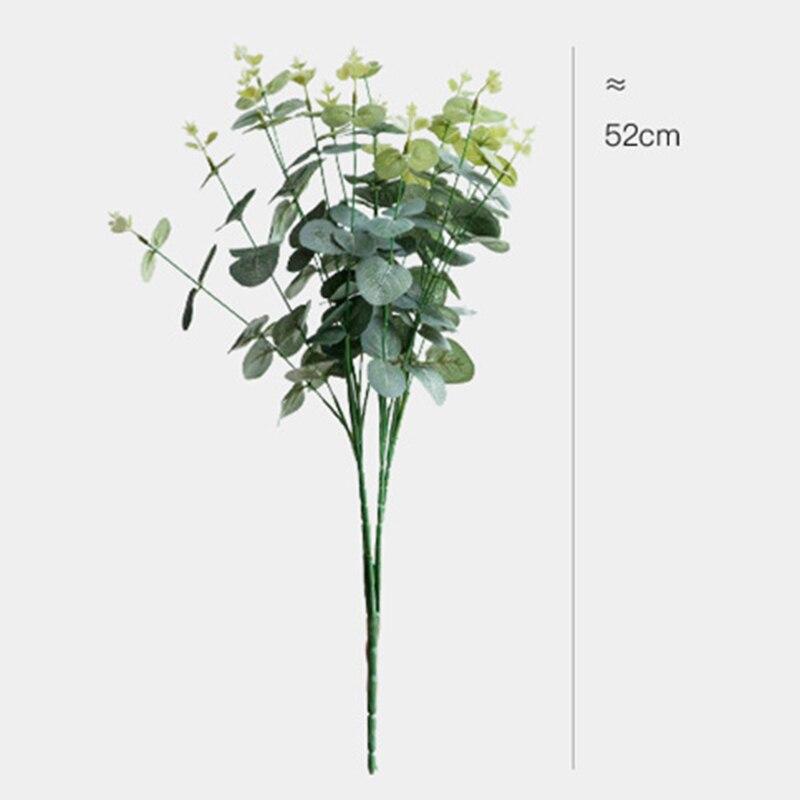 Hoja Artificial falsa de 16 cabezas, ramo de flores de seda Artificial, decoración del hogar con hojas, planta de flores de imitación, follaje - 6