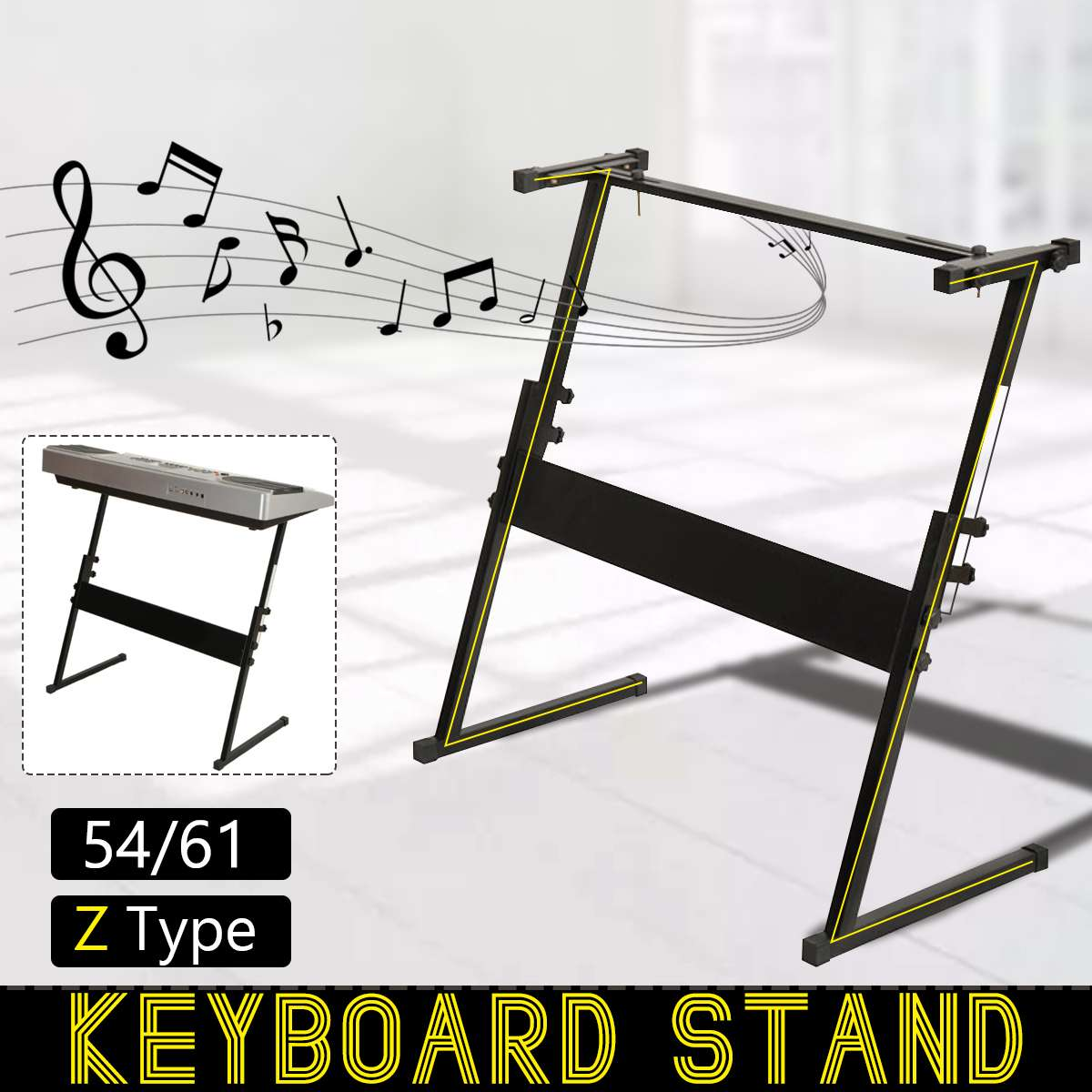 Electronic Piano Stand Adjustable Z-type 54 61 Key Iron Rack Keyboard Instrument Stand Accessories Electric Instrument Parts