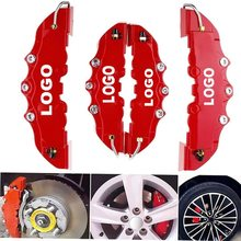 4 pcs 3D disc brake caliper cover universal style disc front and rear kit Fit 17 inch 2 pcs medium and 2 pcs small