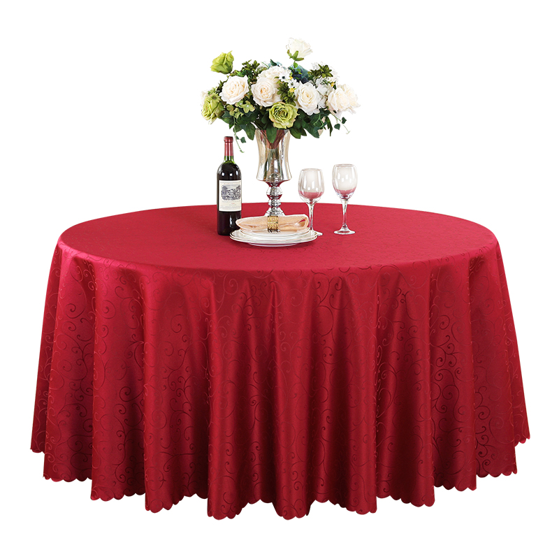 Striped Round Tablecloth Topper Luxury Polyester Table Cover Oilproof Wedding Party Restaurant Banquet Decor