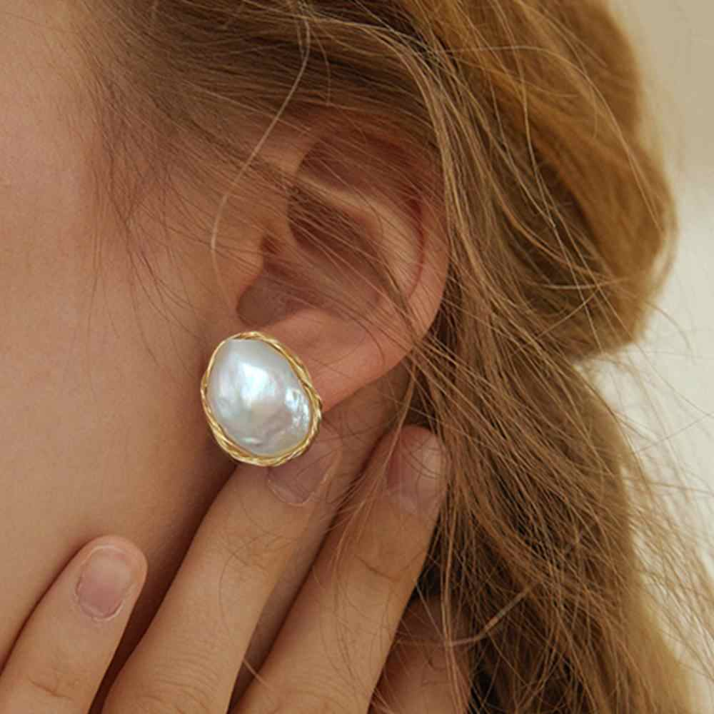 SEVEN GIRL Fashion Stud earring Baroque Freshwater pearl earrings jewelry handmade earrings for women Party wedding