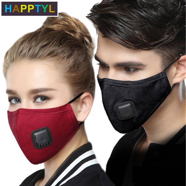 HAPPTYL Anti Pollution Mask Dust Respirator Washable Reusable Masks Cotton Unisex Mouth Muffle for Travel/ Cycling/Running 2