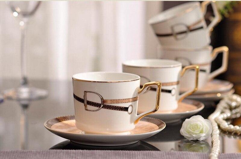 Европейский Британский керамический костяной фарфор чайный сервиз кофейный набор аристократическая чашка с блюдцем