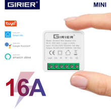 16A Mini Smart Wifi DIY Switch Supports 2 Way Control Smart Home Universal Module Works with Alexa Google Home Smart Life App cheap GIRIER CN(Origin) ROHS Switches APP control MINI Smart Wifi Switch DIY Universal Smart Wifi Switch 100~240V 50 60Hz 1800-3450W