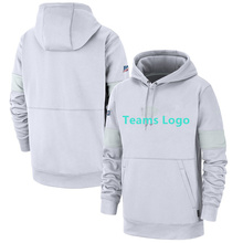 Custom size S-4XL New 100th Season Sideline Platinum Therma White Pullover Hoodie Front pouch pocket Mens Hoodies Sweatshirt