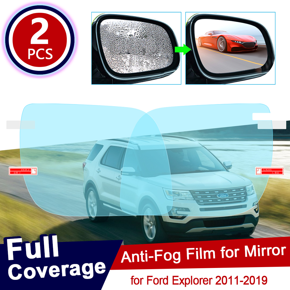 <font><b>for</b></font> <font><b>Ford</b></font> <font><b>Explorer</b></font> 2011~2019 U502 MK5 Full Cover Anti Fog Film Rearview <font><b>Mirror</b></font> Rainproof Anti-fog Films Car <font><b>Accessories</b></font> 2012 2014 image