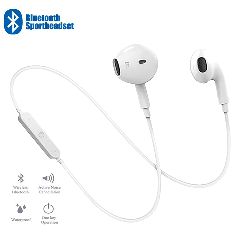 Portable Earphone <font><b>Headphone</b></font> Sport Neckband Headset Handsfree <font><b>Bluetooth</b></font> Earpiece Stereo <font><b>Headphones</b></font> with Mic For Huawei Xiaomi image
