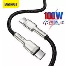 Baseus USB C Sang USB Type C Cáp USB C PD 100W Nhanh Sạc Dây USB C Loại C dành Cho Samsung S20 S10 Macbook Pro Loại C