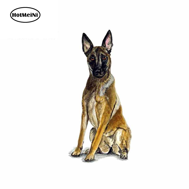 HotMeiNi 13cm X 6.3cm Car Stickers For Belgian Shepherd Malinois Police Rescue Guard Dog Graphics Funny Bumper Wall Decals