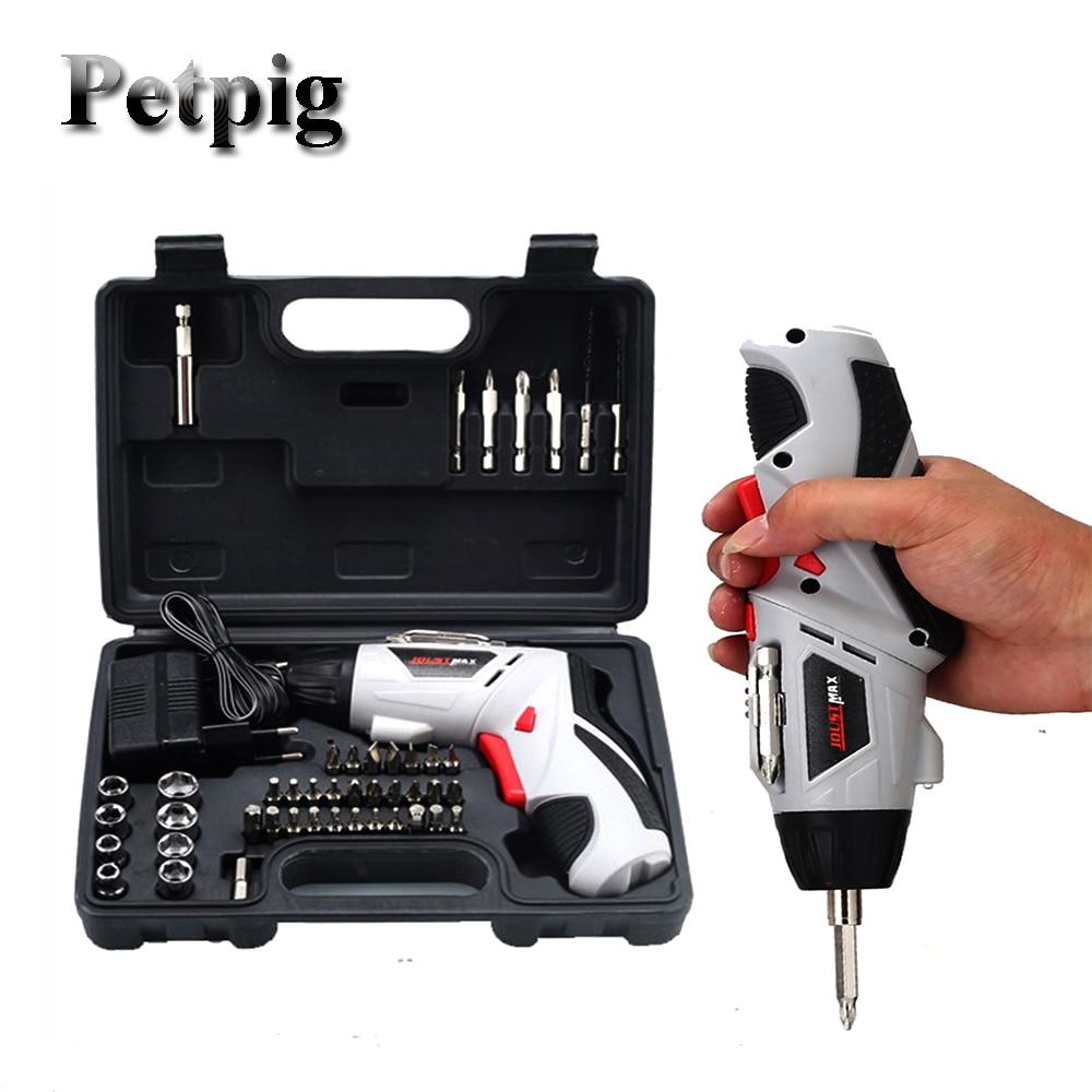 Petpig Electric Screwdriver Set Wireless Electric Drill Torque Screwdriver Set Tools For Car Repair Electro Tool