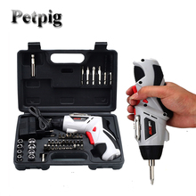 цены Petpig Electric Screwdriver Set Wireless Electric Drill Torque Screwdriver Set Tools for Car Repair Electro Tool