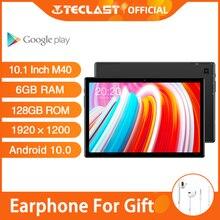 Новейший 10,1 дюймовый планшет Teclast M40 Android 10,0 6 ГБ ОЗУ 128 Гб ПЗУ Mali G52 3EE GPU 8MP камера Bluetooth 5,2 4G Телефонный звонок WiFi