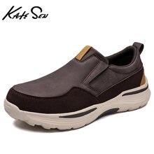 Katesen/мужская кожаная повседневная обувь; Новинка 2021 года;